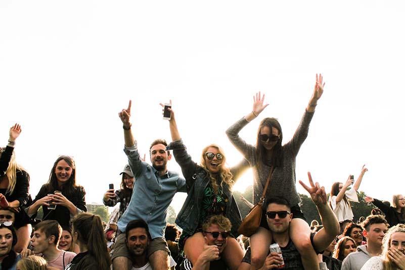 Musikband auf einer Open-Air-Party in Stuttgart