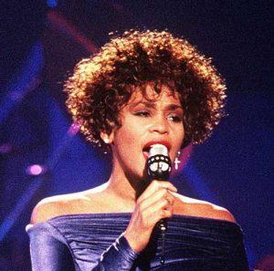 80er und 90er Jahre Pop Star Whitney Houston